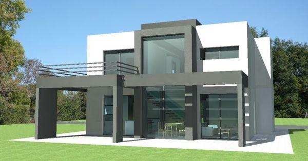 Id e photo de maison design moderne toit plat archi for Constructeur maison bourgoin