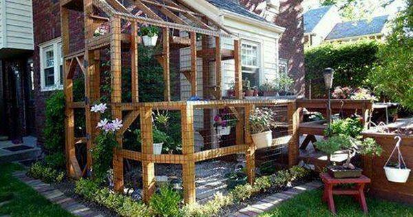 Learn Share Fun Cat Patio Outdoor Cat Enclosure Cat Enclosure