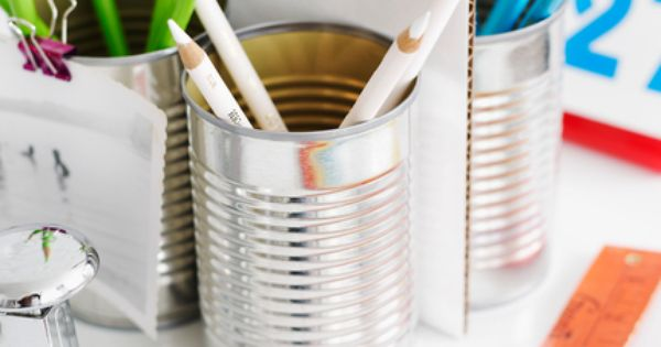 tin can pencil holders