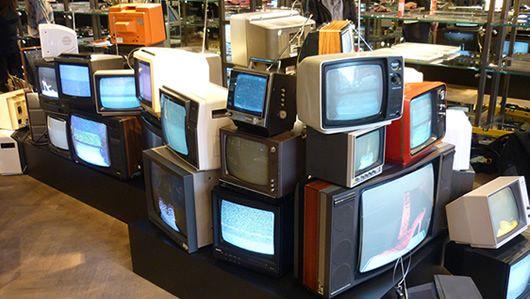 Prop Hire Kurt Geiger Retro Tv Art Installation Installation