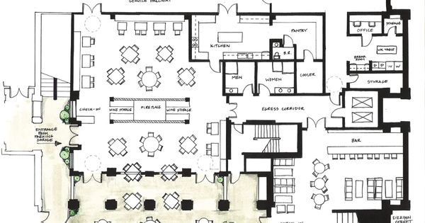 Architecture design inspired by f plan for Studium interior design