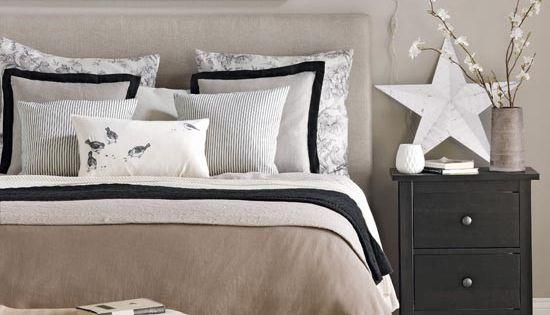 ... slaapkamer, zwarte accenten and neutrale slaapkamers on
