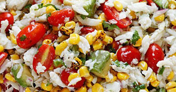 Summer Tomatoes, Corn, Crab and Avocado Salad | DEEELISH ...