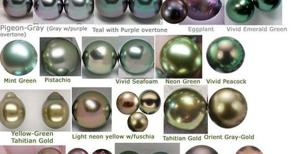 Tahitian Pearl Color Chart Jewelry Education Tahitian Pearls Pearl Color