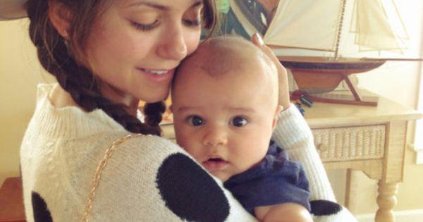 nina dobrev holding cute baby adorbs pinterest nina