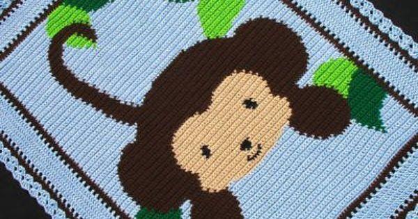 Crochet Jungle Afghan Pattern : Crochet Patterns - BABY JUNGLE MONKEY Afghan Pattern - USD5 ...
