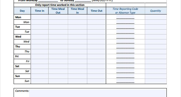 14+ Blank Timesheet Templates \u2013 Free Sample, Example Format Download