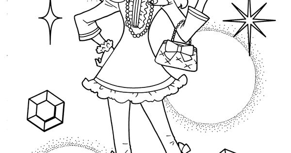 Nice Girl From Pretty Cure Coloring Pages For Kids