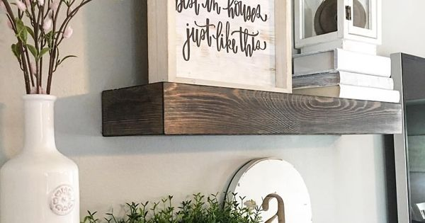 Floating Shelves, Wood Shelves, Farmhouse Decor, Farmhouse