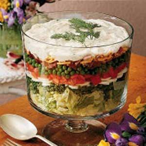 Layered Lettuce Salad Recipe Lettuce Salad Recipes Lettuce Salad Layered Salad