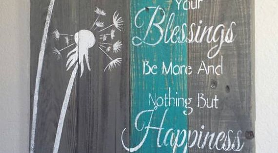 Rustic Pallet Dandelion Irish Blessing May Your Troubles