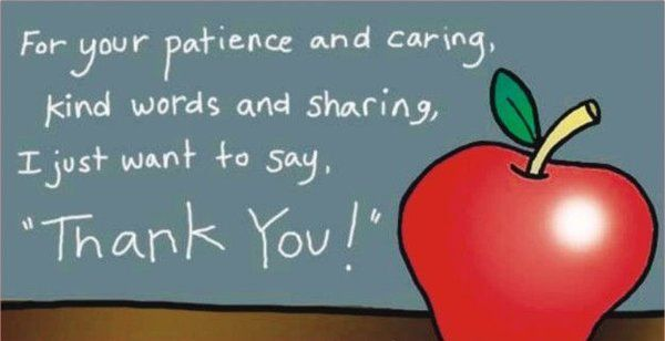 Gratitude Quotes For Your Patience And Caring Kind Words And Sharing Thank You In 2020 Teacher Appreciation Quotes Message For Teacher Happy Teachers Day
