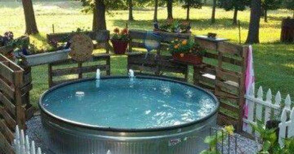 Hot Tub Water Trough Ideas Back Yard Pinterest The O