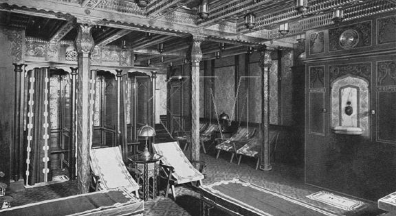 The Elaborate Decor Of The Cooling Room Of Titanic S Turkish Bath