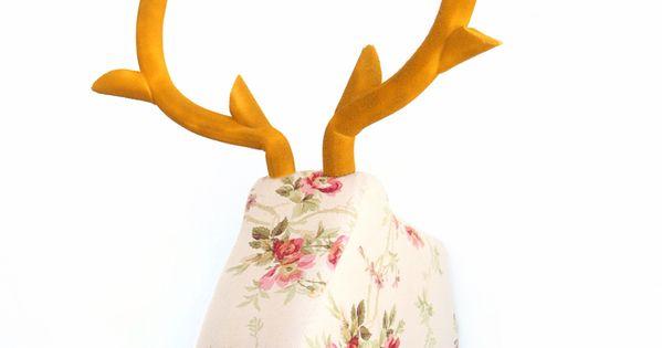 Cabezas de ciervo de tela y de muchos m s animales cons guelas en decoraci n - Cabezas animales tela ...