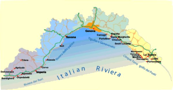 italy riviera map greece map