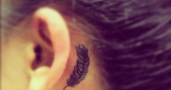 Feather Tattoo Behind Ear Tattoos Pinterest Feather Tattoos Tattoo And Tatting