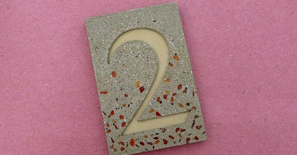 House numbers made with shapecrete the shape able for Craft cement mix