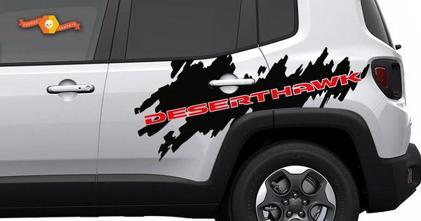 Product 2 Color Jeep Renegade Deserthawk Side Splash Graphic Vinyl Decal Desert Hawk Suv Jeep Renegade Jeep Suv