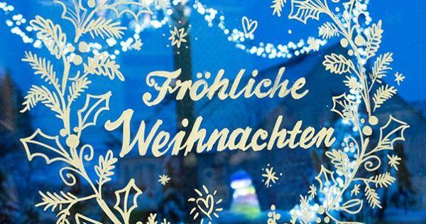 Zauberhafte fensterdeko weihnachtliche fensterdeko for Kreidemarker vorlagen weihnachten