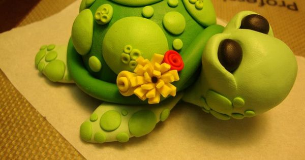 my polymer clay turtle tutorial. :) Cake Toppers by ...