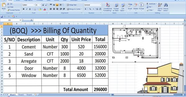 How To Calculate Boq For Getting The Total Amount Required For