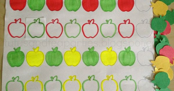 Fall Apple Pattern Sheet for Toddlers