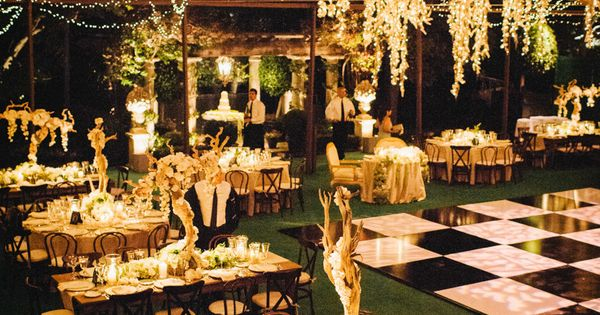 The lighting and decor at this wedding is crazy gorgeous! See more