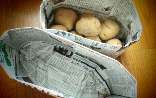 紙 折り紙 新聞紙 折り紙 ゴミ箱 : 。新聞紙で作るゴミ箱 ...