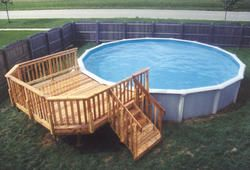 10 X 12 Leisure Deck For A 21 Pool At Menards Pool Deck Plans Above Ground Pool Landscaping Above Ground Pool Decks