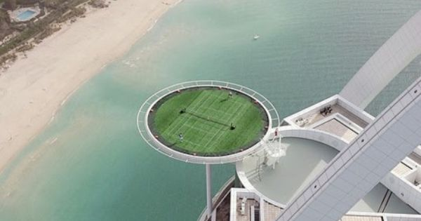 highest tennis court in the world - dubai [a.k.a. places i will