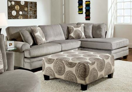 Gray Soft Microfiber Couch Groovy Smoke Two Piece