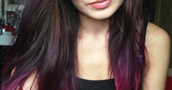 Dip Dye Hair Make Up And Nail Ideas Pinterest Dip Dyed Dips And Hair Coloring