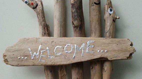 Basteln Mit Strandgut : bildergebnis f r basteln mit treibholz heimwerkern und co pinterest willkommensschilder ~ Fotosdekora.club Haus und Dekorationen