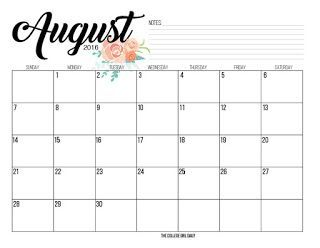August Calendar 2017 Tumblr August Kalender Kalender Kostenlos