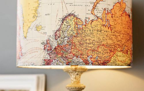 Vintage Map Lampshade. For the office or library