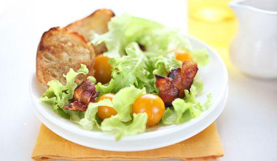 California BLT With Avocado And Basil Mayonnaise Recipe — Dishmaps