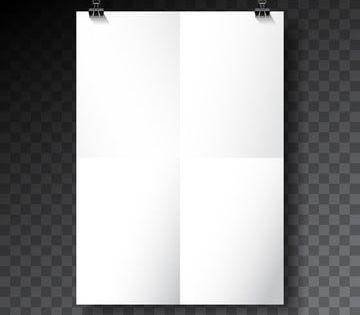 矢量海報樣機模板與折疊紙頁上透明背景 Poster Mockup Poster Mockup Psd Poster Mockup Free