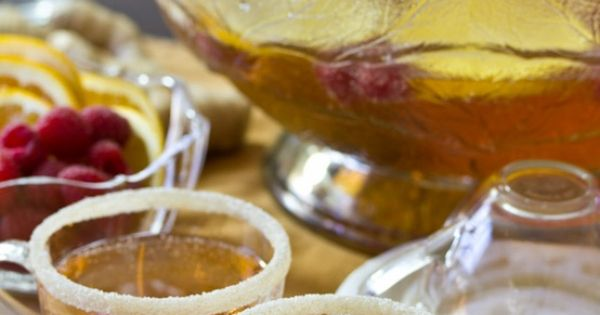 Champagne Punch with Raspberry and Orange Liqueur ASpicyPerspective ...