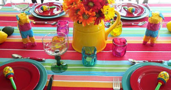 Colorful tablescape ideas for cinco de mayo home seasons for 5 de mayo party decoration