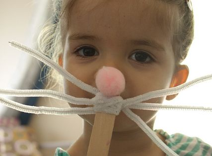 the Easy Easter DIY Crafts- Easter bunny mask, could use for a