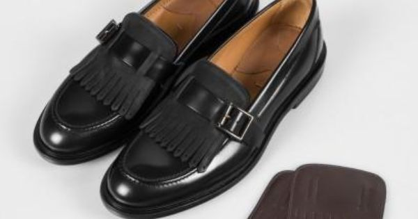 chaussures paul smith femme mocassins costello en cuir de veau noir franges des jolies. Black Bedroom Furniture Sets. Home Design Ideas