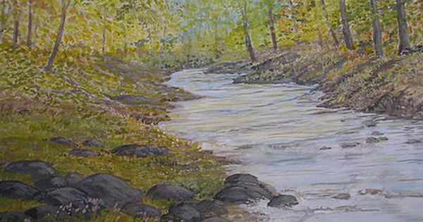 Peaceful River And Woodland Scene Art Painting For Sale Castle Painting Woodland Scene Landscape