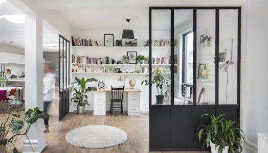 Fabriquer Une Entree Avec Une Verriere Et Des Etageres Ikea Idee Entree Maison Plan Maison 100m2 Verriere