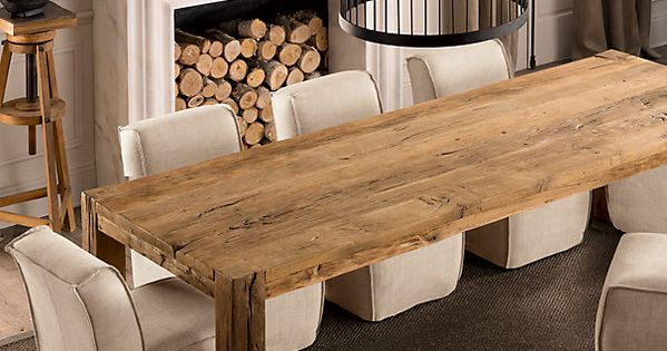 Parsons Reclaimed Russian Oak Dining Table 138 Now That S A Home Decor At Repinned Net