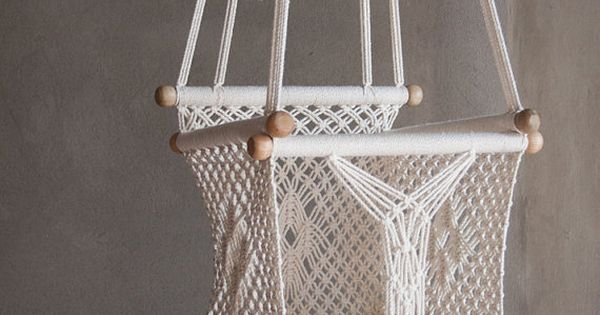 Preorder of baby swing chair 14 in macrame 1 year for Diy macrame baby swing