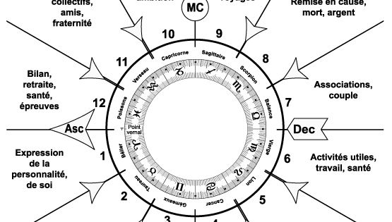 Maisons astrologiques sur un th me astral venado azul for Astrologie maison