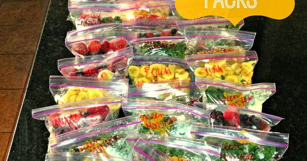 Frozen Smoothie Packs - All Things Katie Marie Great smoothie recipes