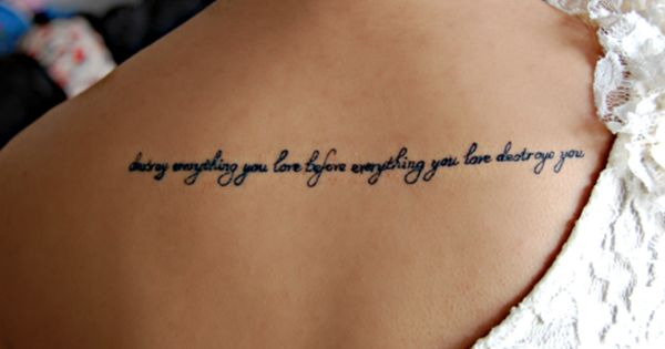word tattoo, phrase tattoo, quote tattoo, body art, tattoo placement