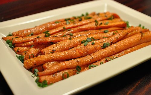 Roasted carrots. One of my fav side dishes - easy and inexpensive!